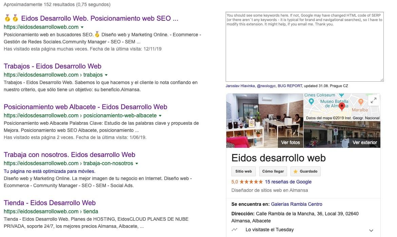 mi web no esta en google