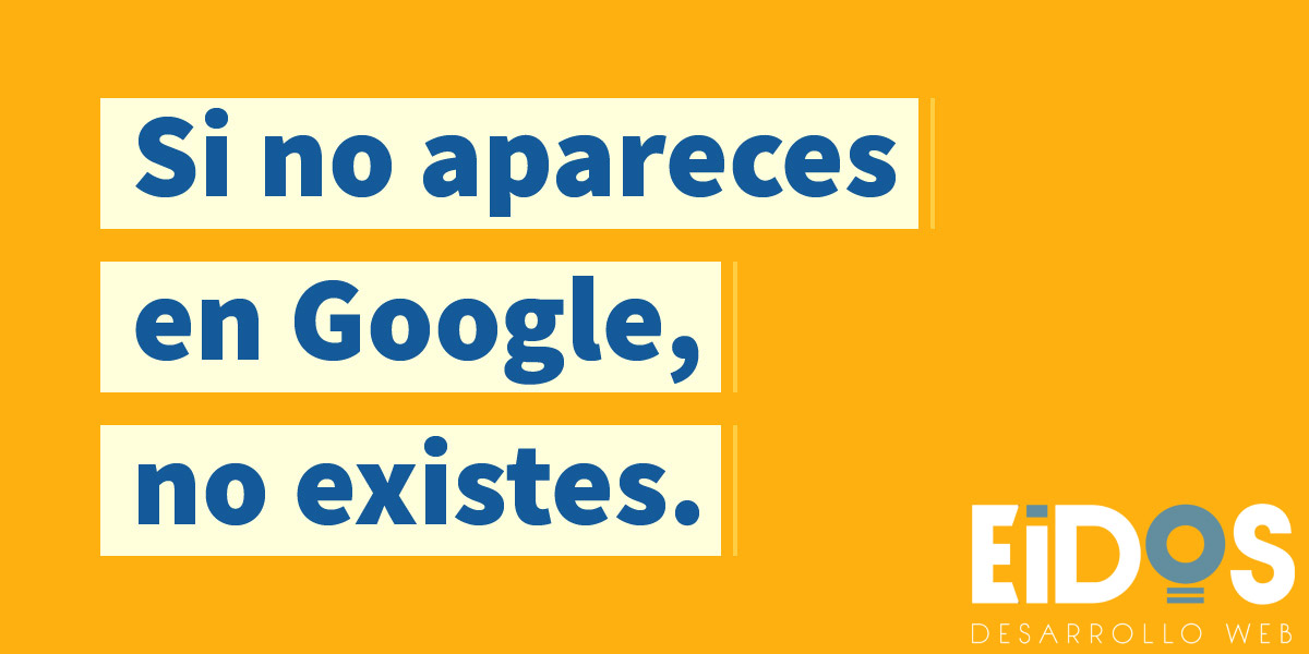 No apareces en google